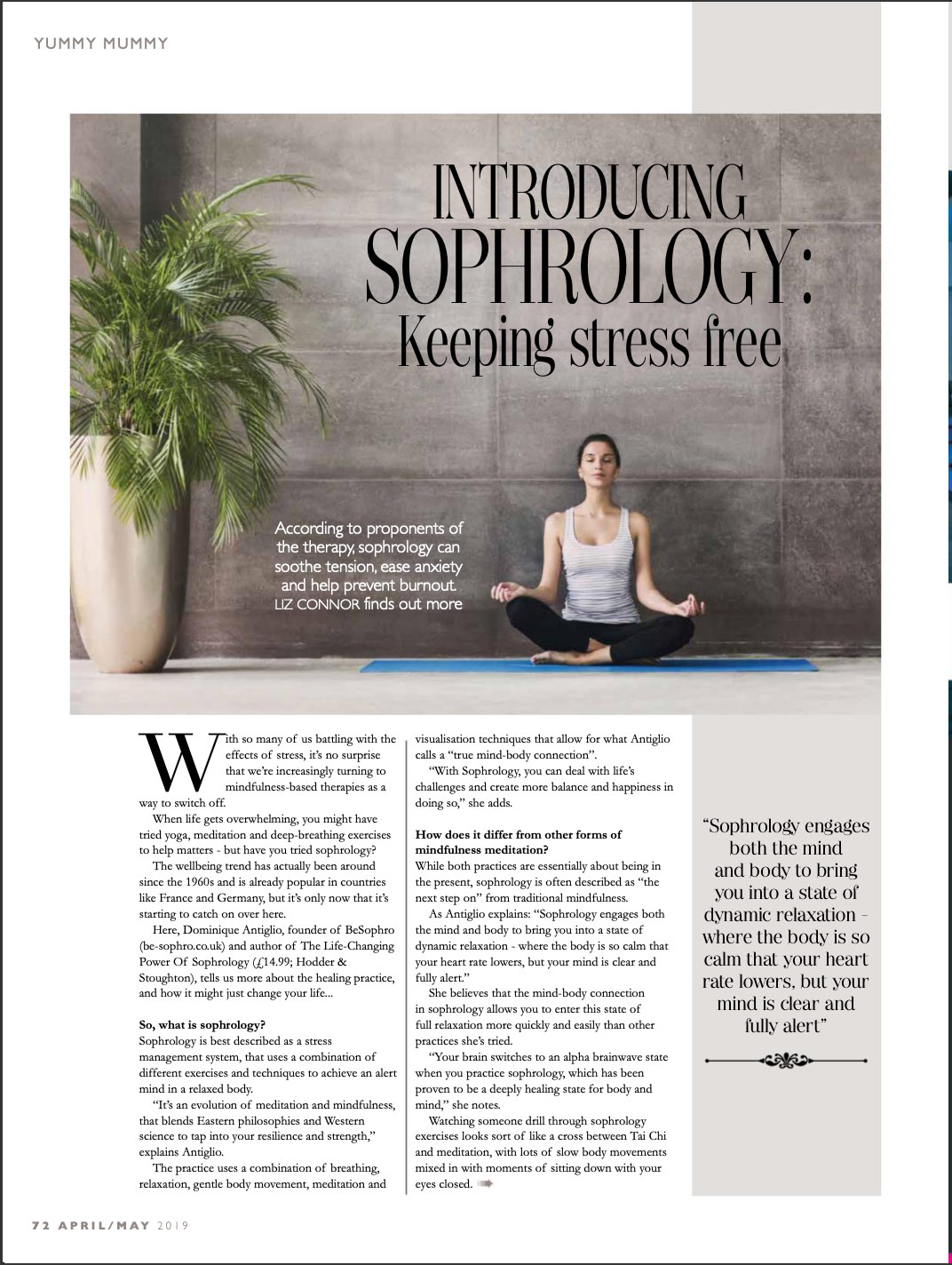 Read how Sophrology can soothe tension, ease anxiety and help prevent burnout.